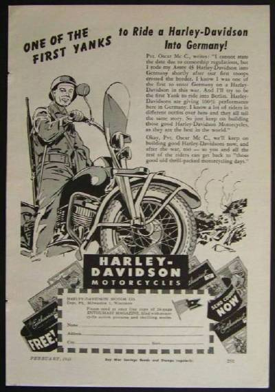 1945 harley davidson army 45 first yanks to ride into. Black Bedroom Furniture Sets. Home Design Ideas