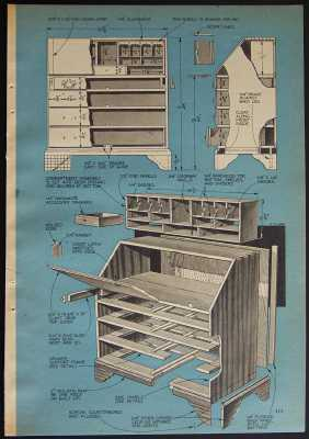 Secretary Desk Building Plans