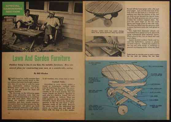 plans for a set of redwood patio furniture this classic 1950 s modern