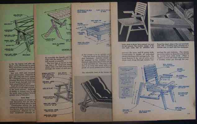 Redwood Lawn Amp Garden Furniture 7 Piece How To Build Plans