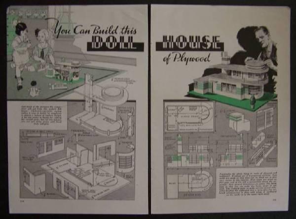 Art Deco Dolls House Plans House Plans