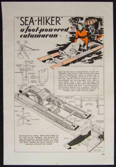 18 foot catamaran plans | Whirligigs row