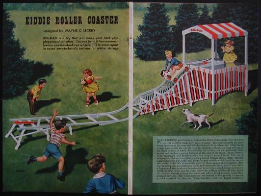 Vintage Backyard Roller Coaster :  back yard roller coaster the rider climbs aboard a four wheel