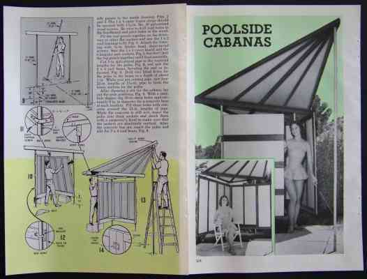 Cabana Swimming Pool Privacy Screen How To Build Plans Two