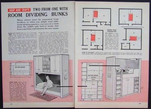 Room Divider Bunk Beds How To Build Plans 2940014534659 Ebay