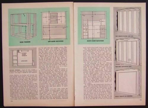 Room Divider Bunk Beds How To Build Plans Ebay