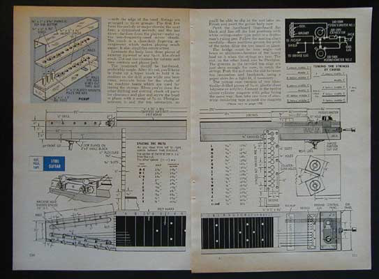 pedal steel guitar 1965 plans how to build your own ebay. Black Bedroom Furniture Sets. Home Design Ideas