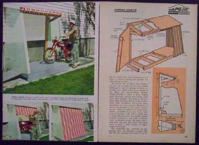 Mini garage utility shed motorcycle garden tractor for Motorcycle garage plans