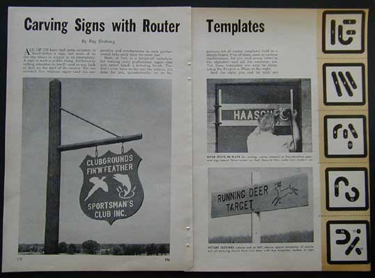 router templates for signs - router jig templates for sign lettering how to build