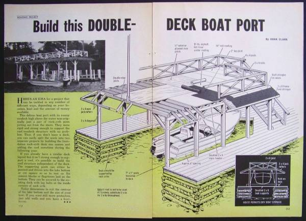 Double deck boat house design plans port sundeck ebay for Boat house designs plans
