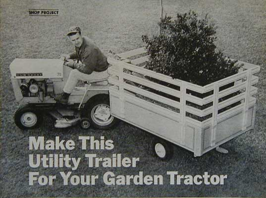 Utility trailer for lawn or garden tractor how to build plans for Garden design trailer