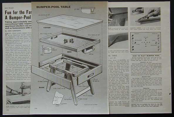 Bumper pool table how to build plans great family fun for How to build a billiard table