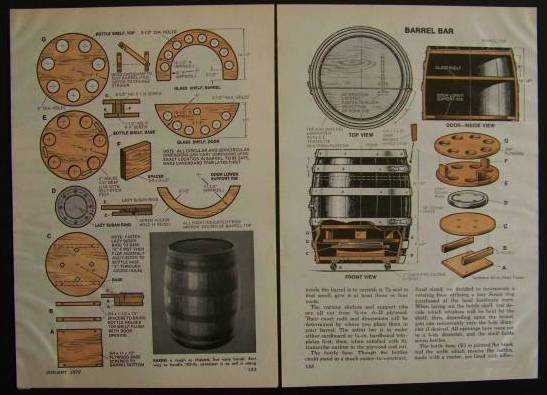 Whiskey Or Wine Barrel Bar How To Build Plans Man Cave