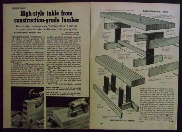 Butcher block dining table how to build plans ez 2x4 construction