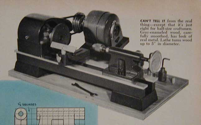 Midget wood lathe modelmakers how to build plans no weld for Metal craft trailers parts