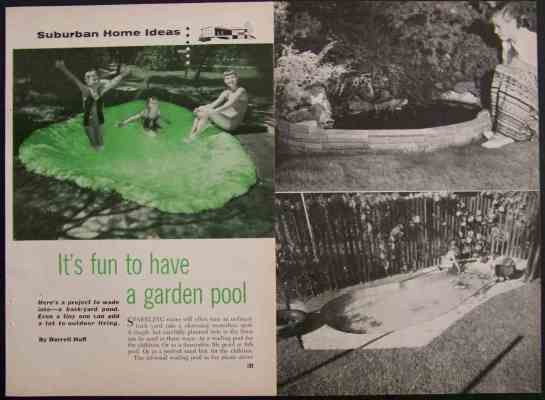 Garden pool backyard fish pond how to build plans cement for Garden pond building instructions