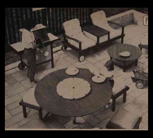 redwood lawn furniture how to build plans table settee