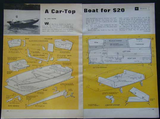 10 39 Plywood Car Top Boat How To Build Plans Easy Build