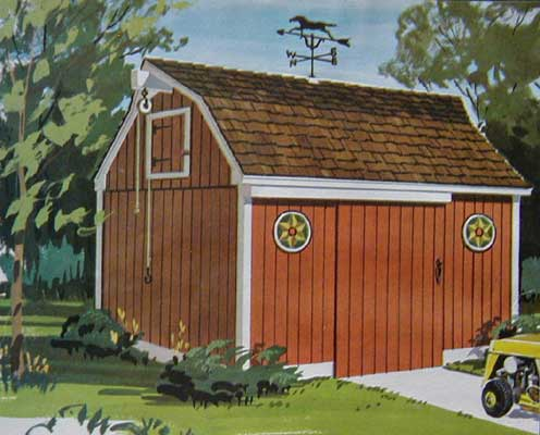 Pennsylvania dutch barn tool shed 8x12 how to build plans for Dutch barn shed plans