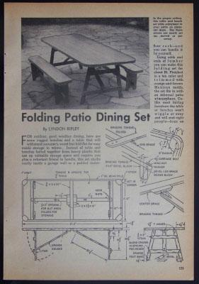 Details about Foldaway Picnic Table How-To Build PLANS EZ storage