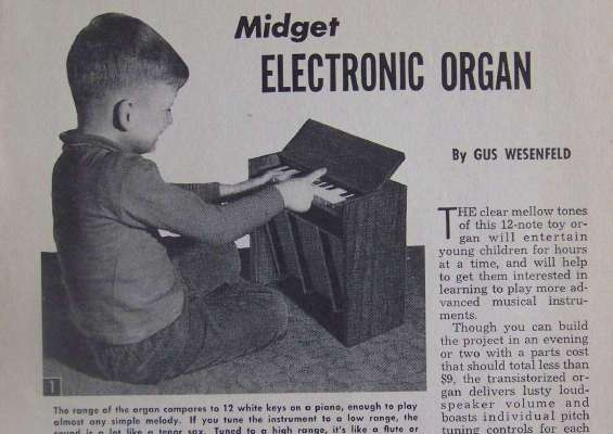 Toy Electronic Chord Organ 1961 How