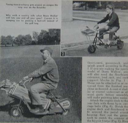Hunting motor scooter how to build plans tote all golf for Golf cart plans